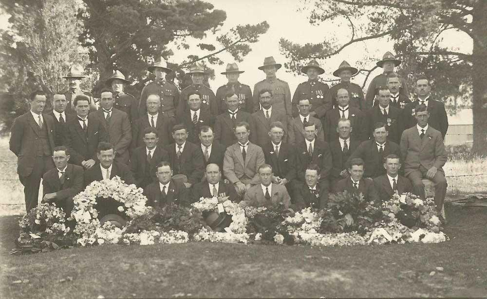 Waimate ANZAC parade early 1920s
