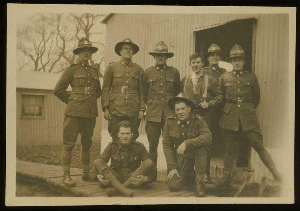NZ Machine Gun Corps soldiers, Grantham, 1918
