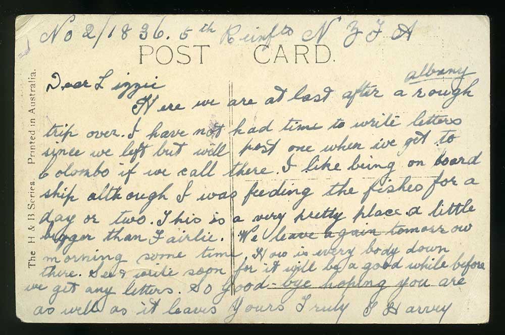 Postcard, August(?) 1915