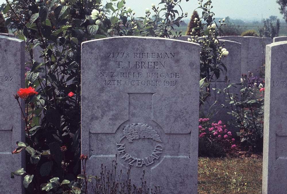Headstone of Timothy Joseph Breen