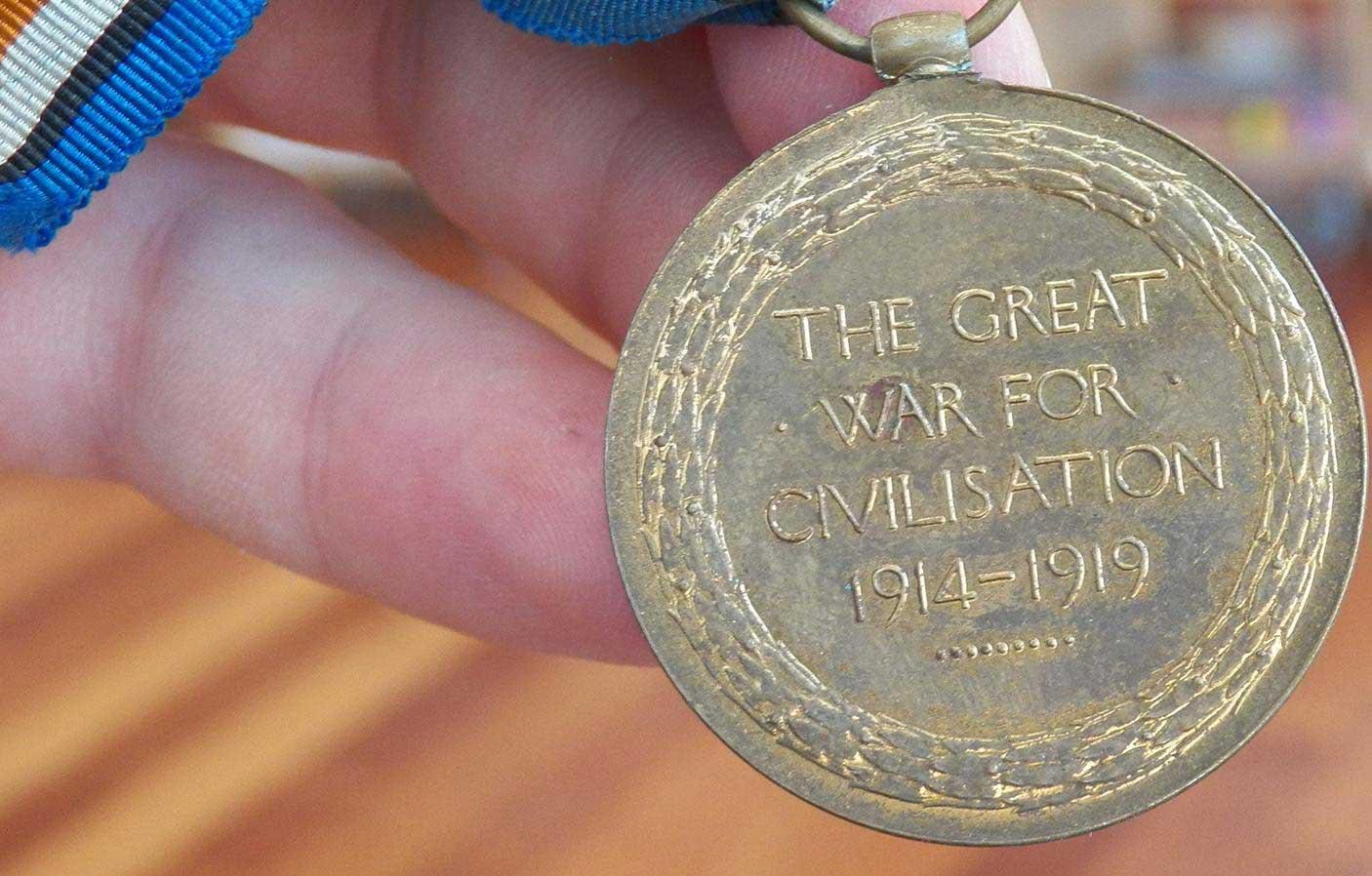 Herbert Burborough's Victory Medal - reverse