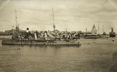 The entrance to the Suez, Port Said, December 1914