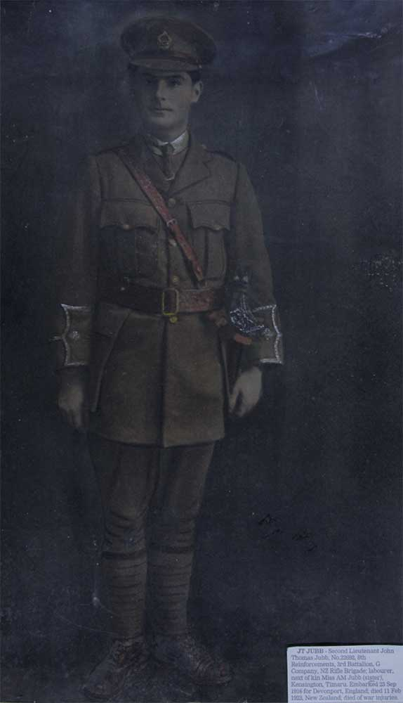 Second Lieutenant John Thomas Jubb