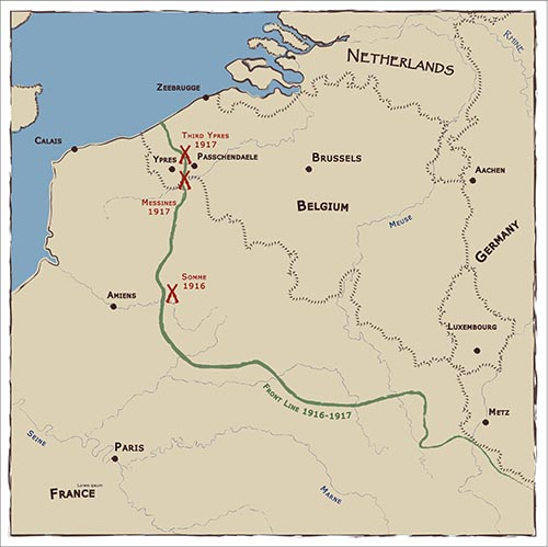 Western Front campaign map
