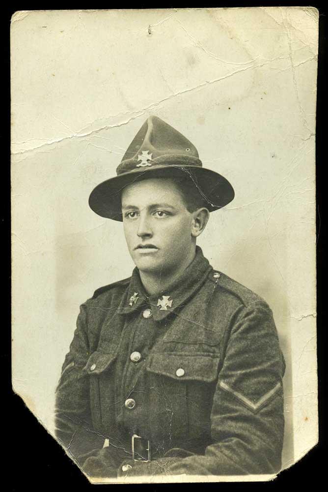 Lance Corporal Kenneth Davison, circa 1918 to 1919