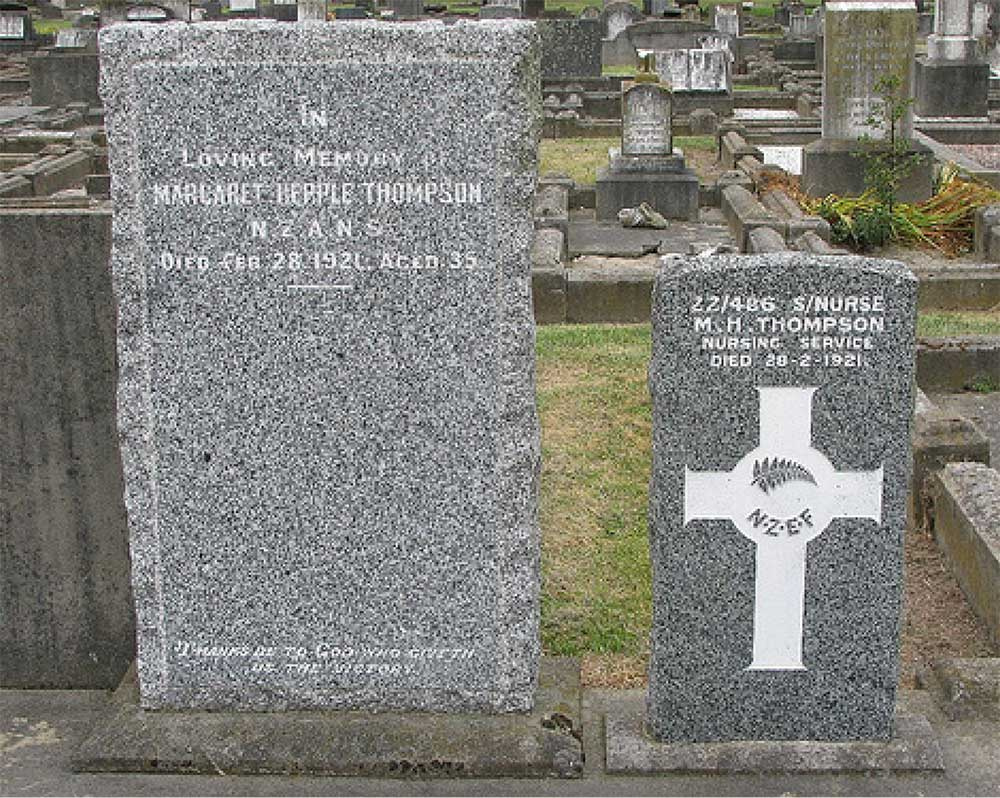 Margaret Thompson's grave