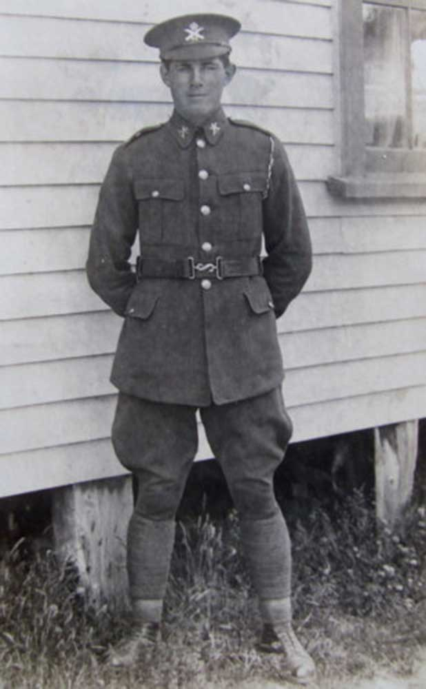 Private Leslie Hopkinson, circa 1918