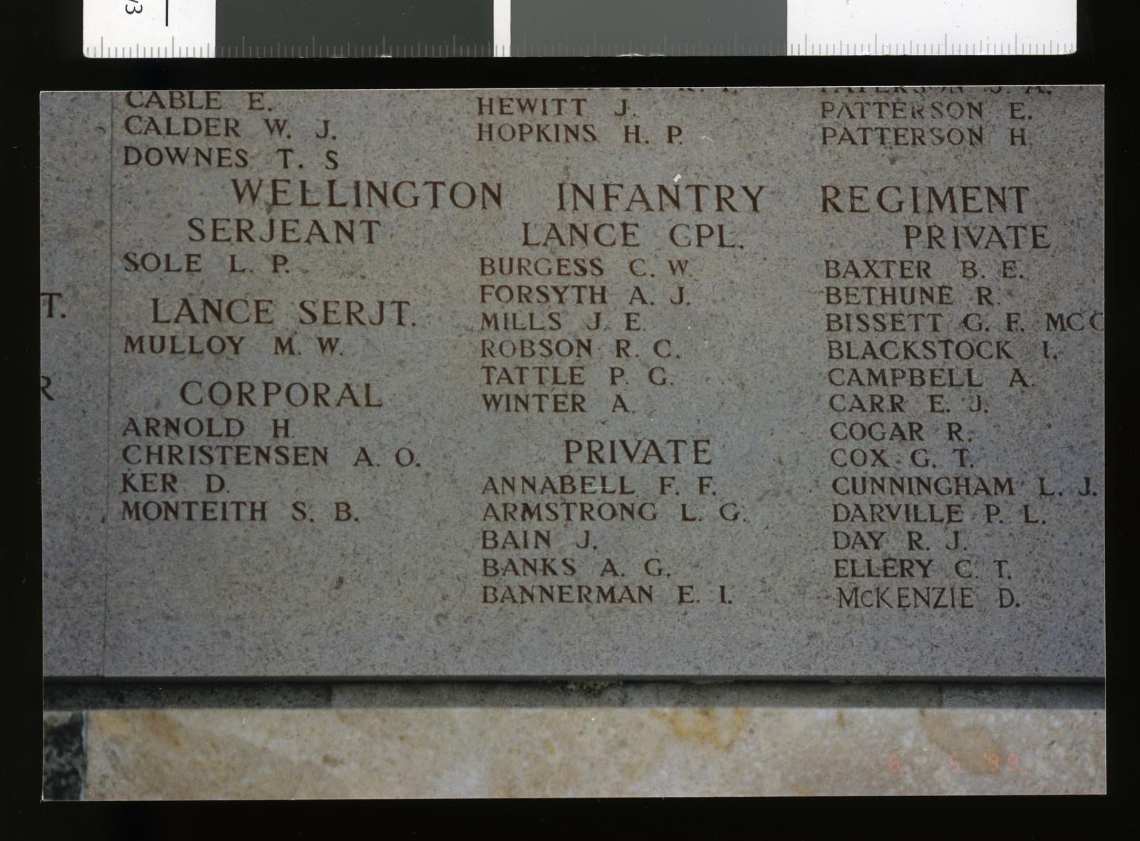 Lone Pine Memorial - including the name of Edmund I Bannerman