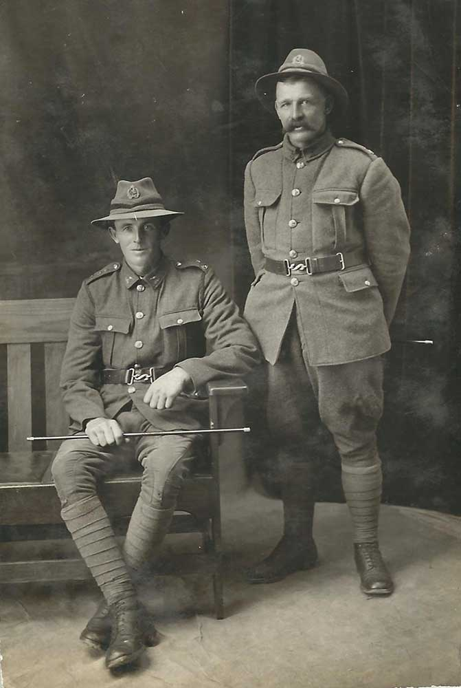 William (Bill) Murphy and his cousin(?) William (Bill) Quaid, circa 1917