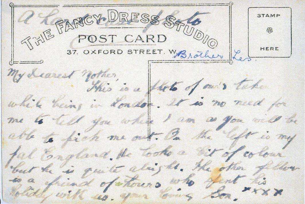 Picture postcard: verso