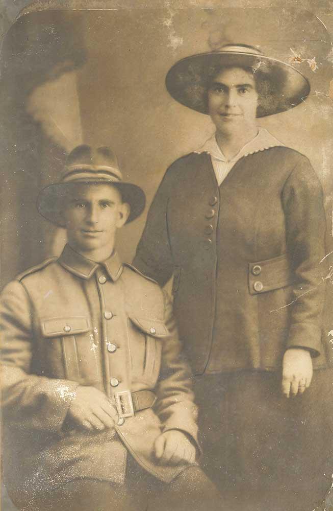 Arthur Daniel Martin and his wife, circa 1916