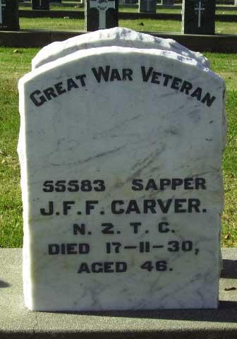 Headstone, Jack Frederick Fletcher, Temuka Cemetery