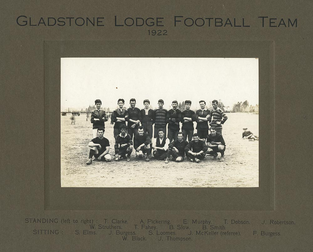 Gladstone Lodge Football Team, 1922