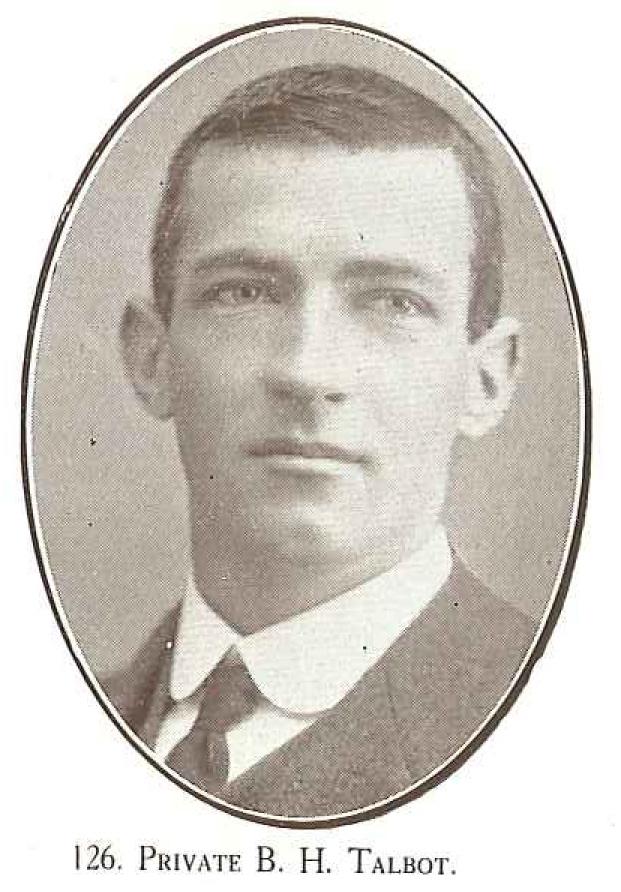Private B H Talbot