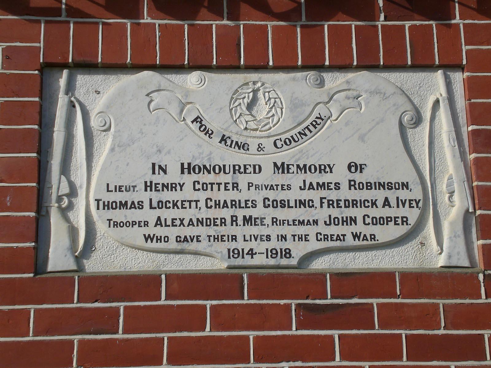Claremont Hall plaque