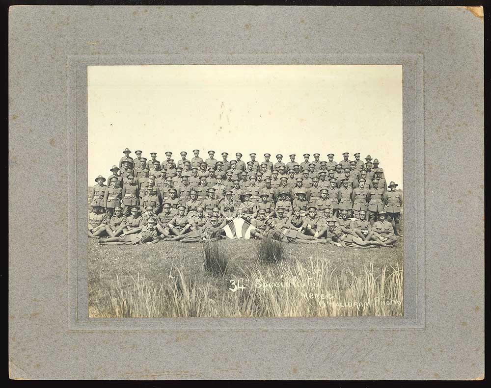 34th Specialist Company, NZ Machine Gun Corps, circa 1917