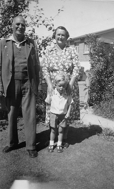 Ernest and Violet Ramsay posed with their oldest grandson
