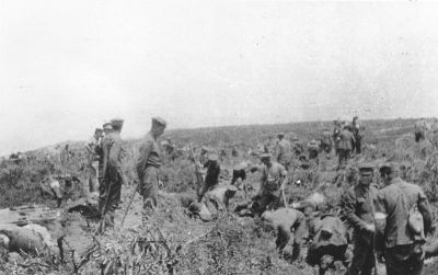Burying the dead at Walker's Ridge