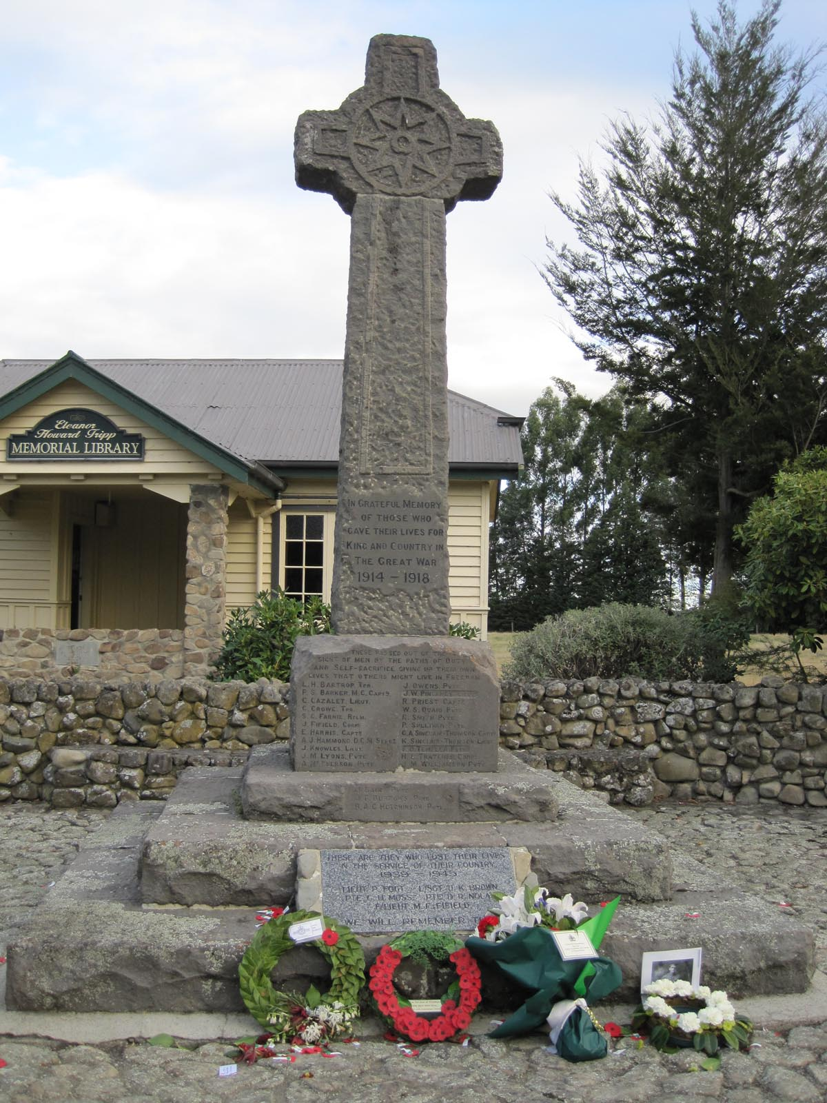 Woodbury War Memorial, pictured in 2010