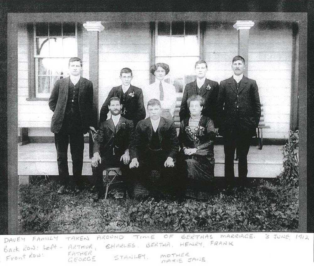 The Davey family, circa 1912
