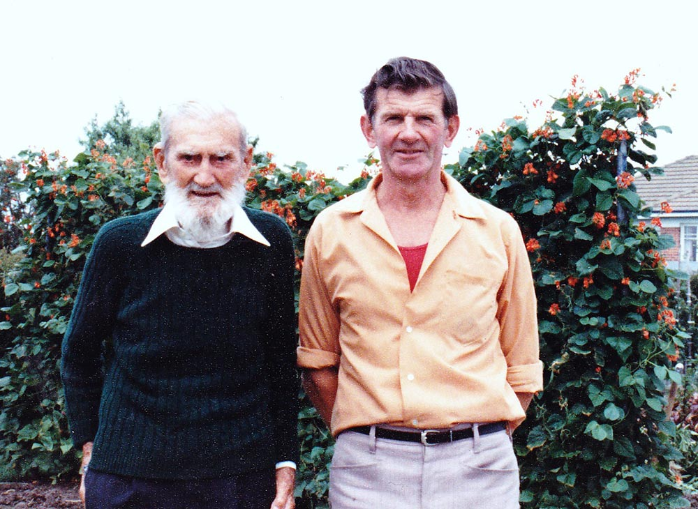 James Driscoll (left) on his 94th birthday