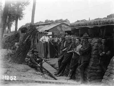 New Zealanders at a fortified camp near Ypres, 19 September 1917