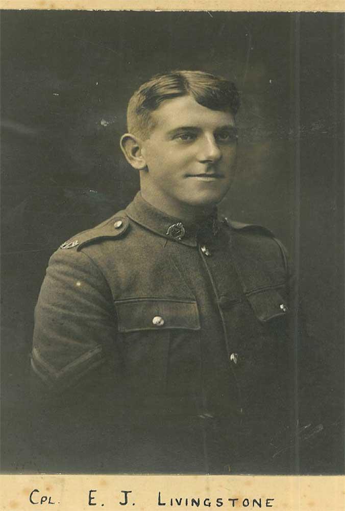Corporal Eric Livingstone, circa 1918
