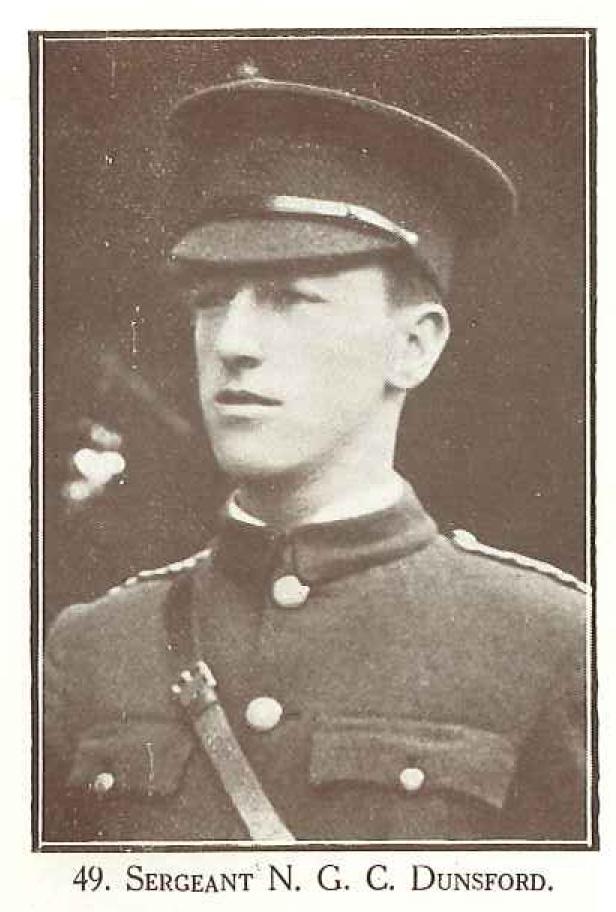 Sergeant N G C Dunsford