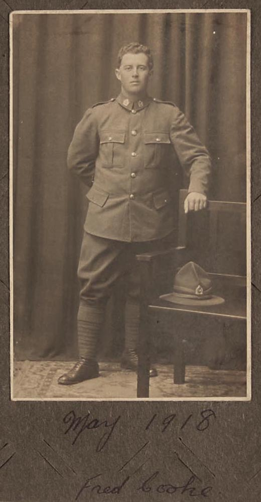 Fred Cooke, 1918