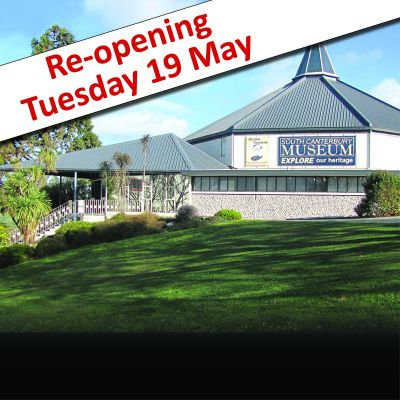 We're Back! At Alert Level 2 the Museum will be reopen from Tuesday 18 May