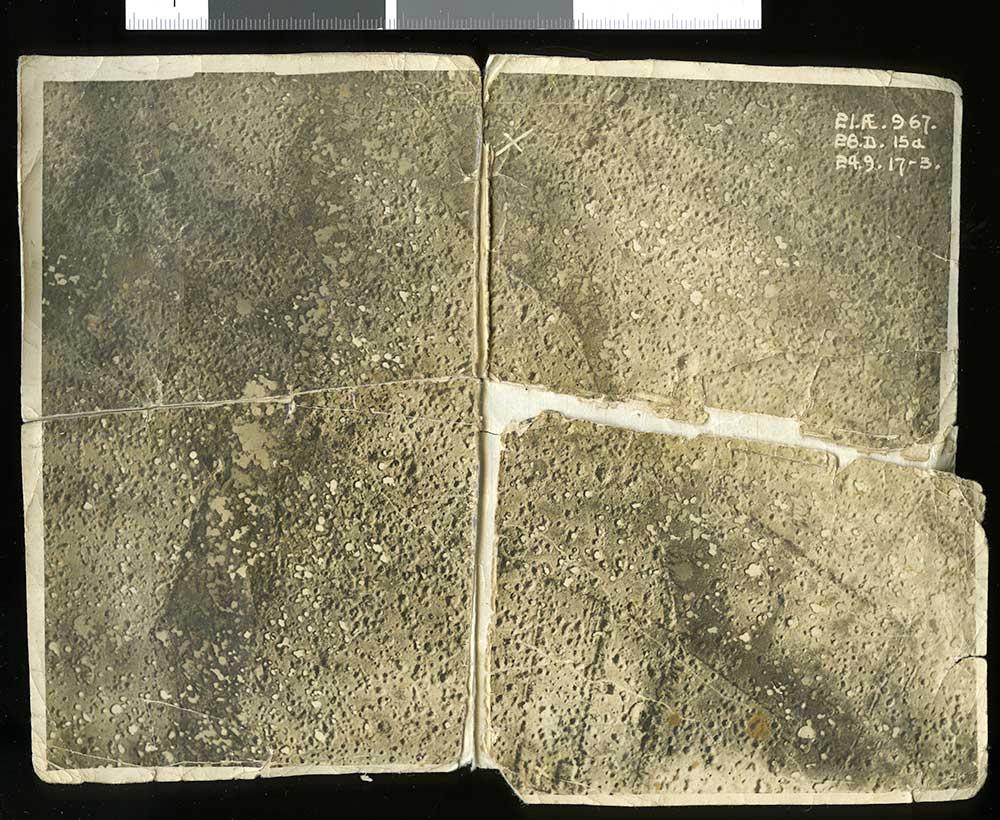 Aerial photograph of Passchendaele, circa 1917