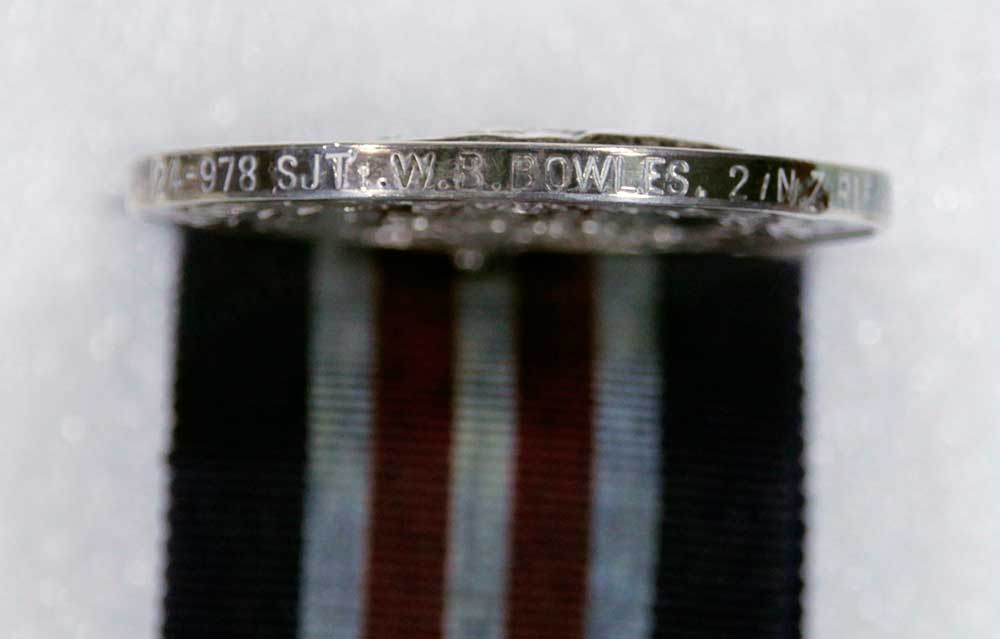 Military Medal, edge stamp, William Bernard Bowles