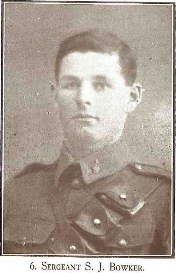 Sergeant S J Bowker