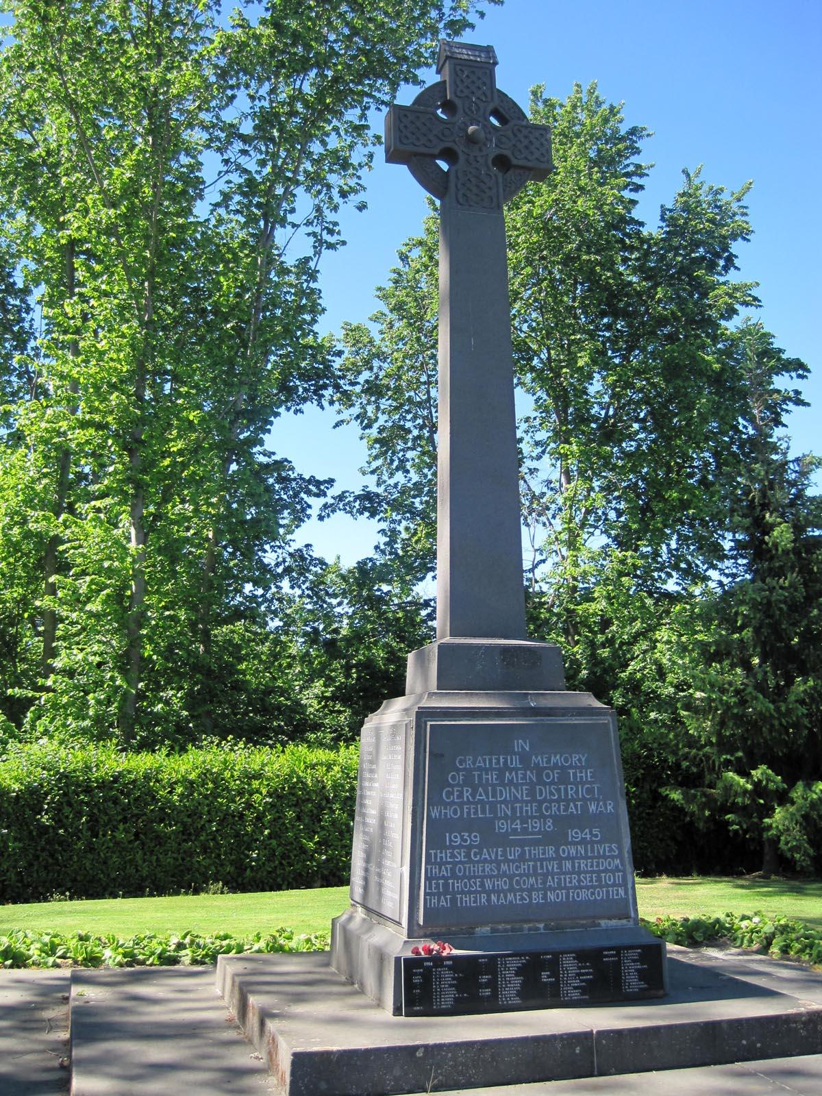 Geraldine War Memorial
