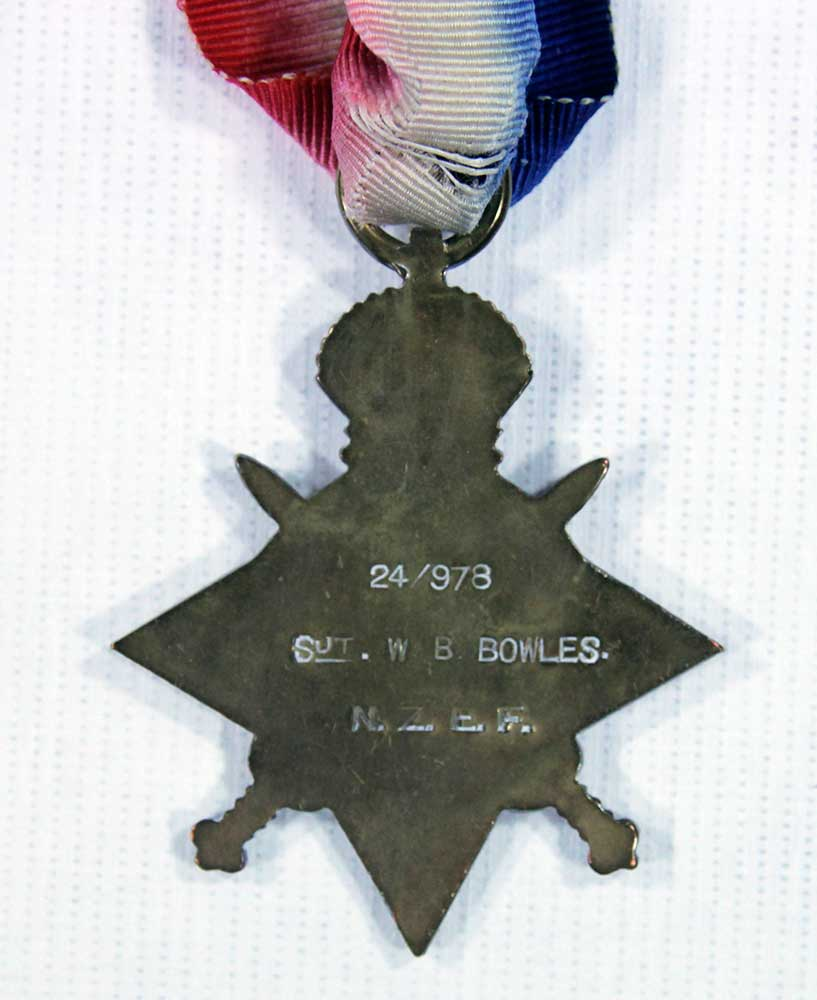 1914-15 Star, verso, William Bernard Bowles