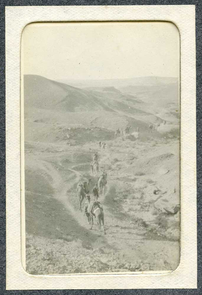 Imperial Camel Corps party returning to camp