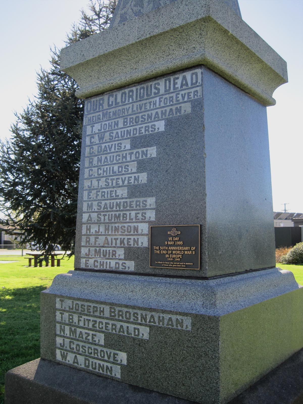 Pleasant Point War Memorial, pictured in 2007