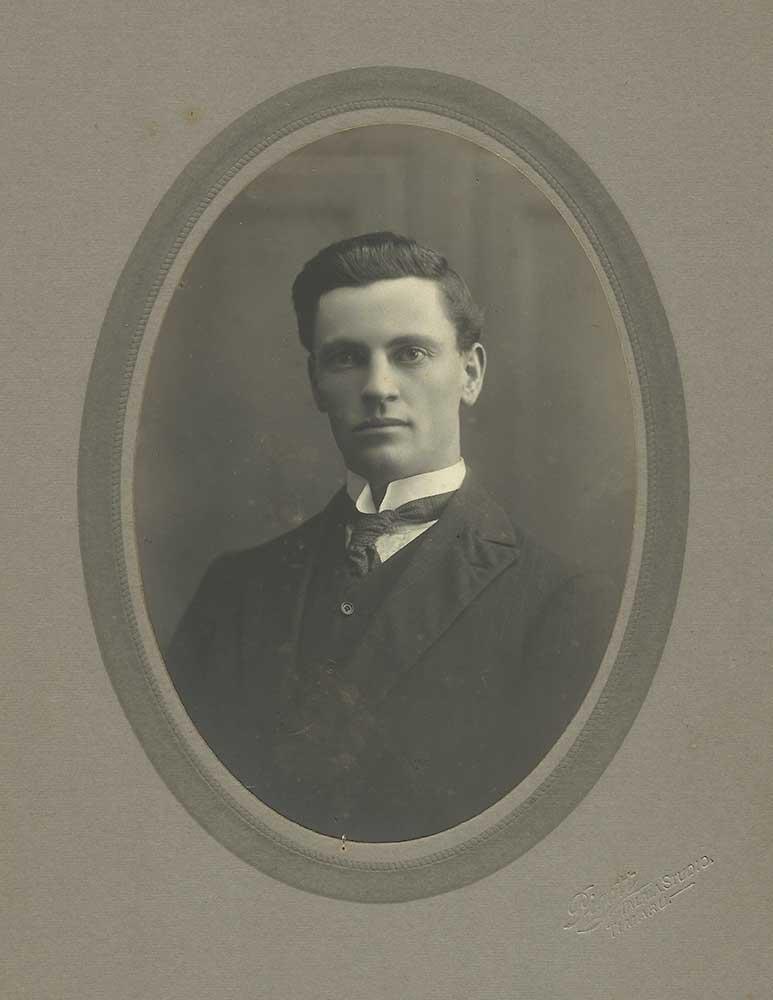Albert Averis, pictured prior to World War One