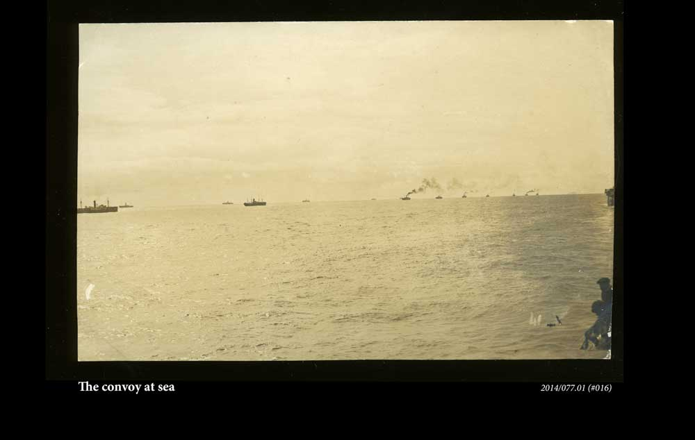 The convoy at sea