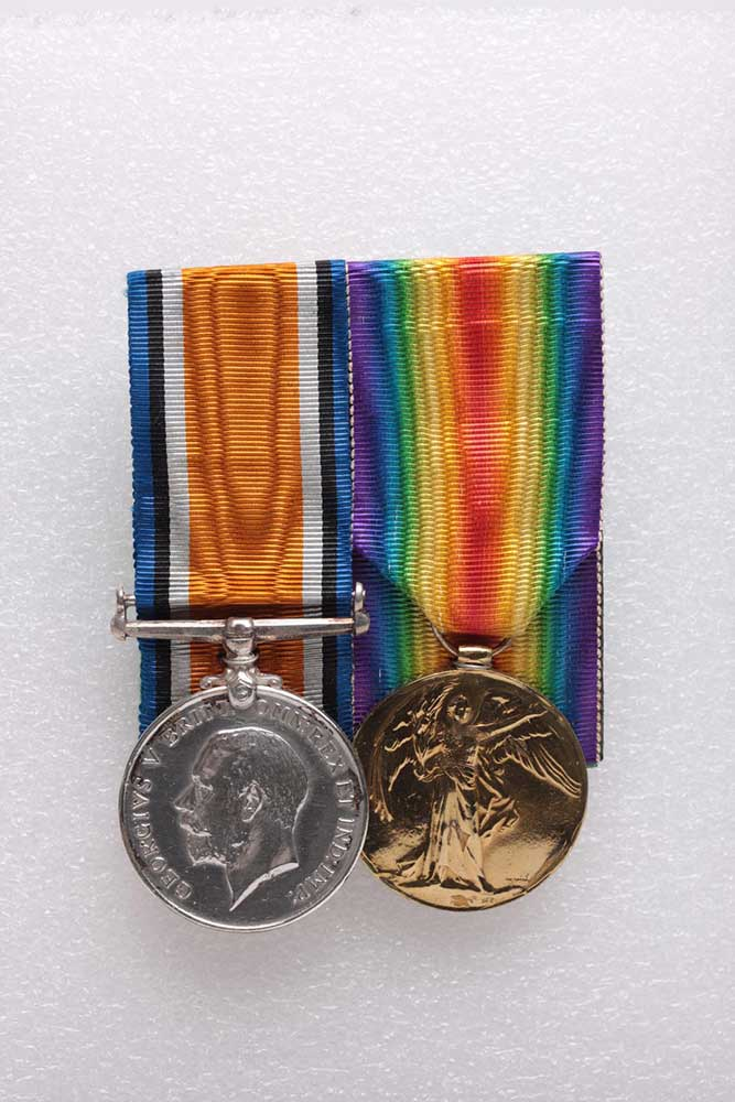 Harold G Traves service medals