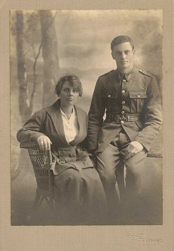 Albert & Ellen Averis on their wedding day,  November 1917