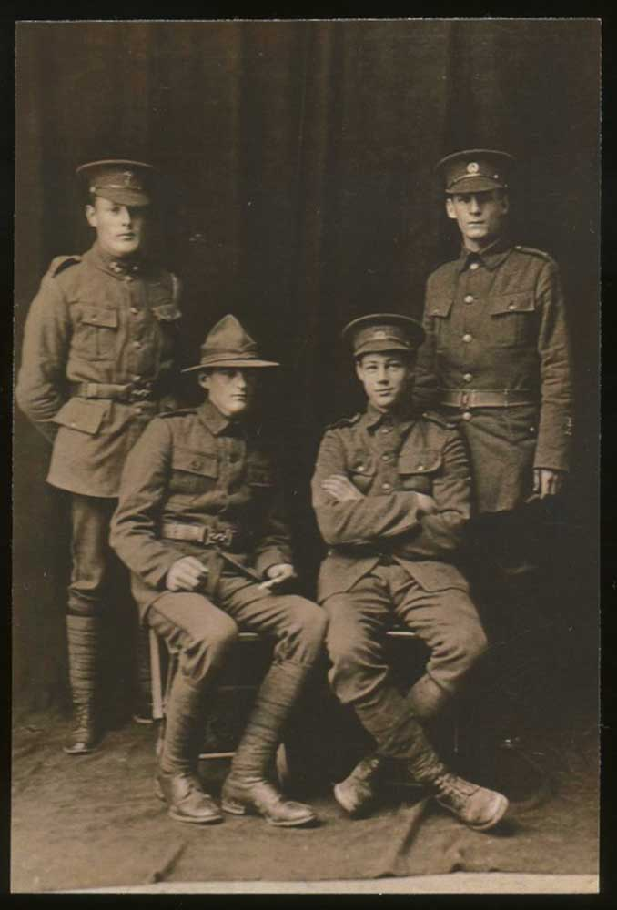 Daniel O'Shea (seated on the right), circa 1915