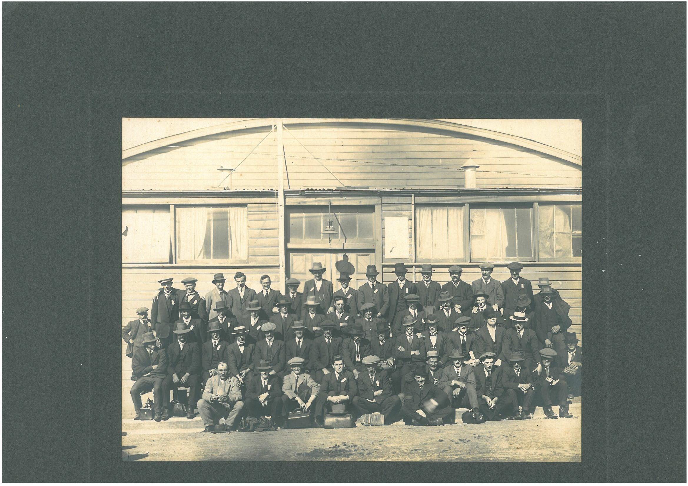 Recruits at Timaru, 1917?