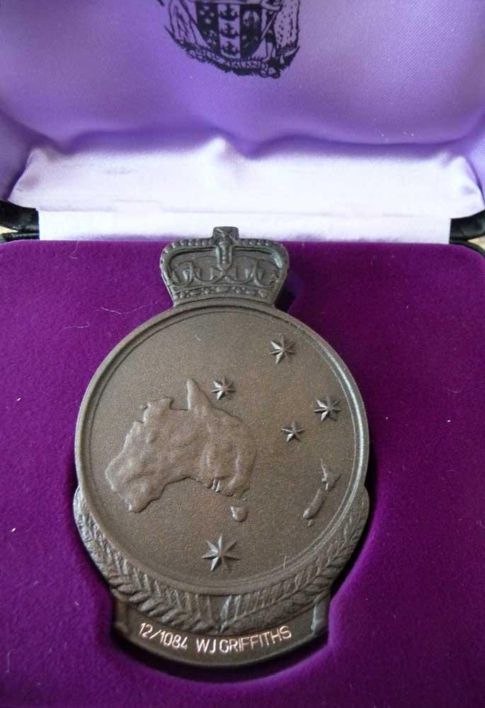 William John Griffiths' ANZAC Commemorative medallion, 1967