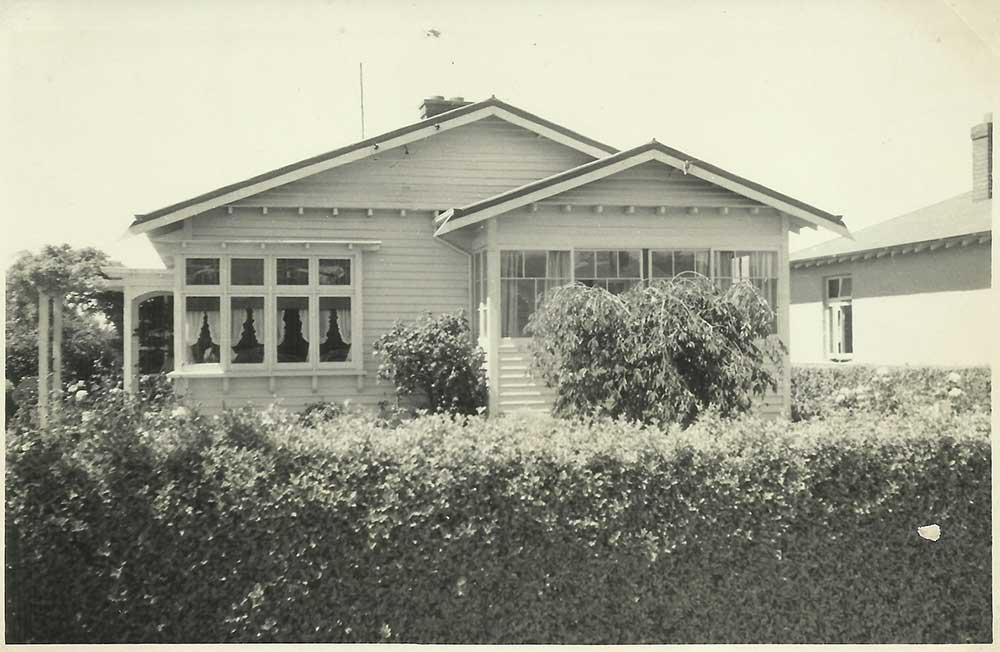 The home of Albert & Nell Averis at 51 Belt Street, Waimate.